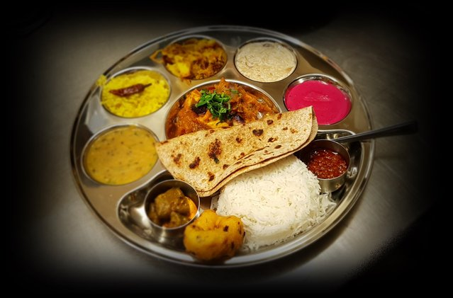 Thali meal indian